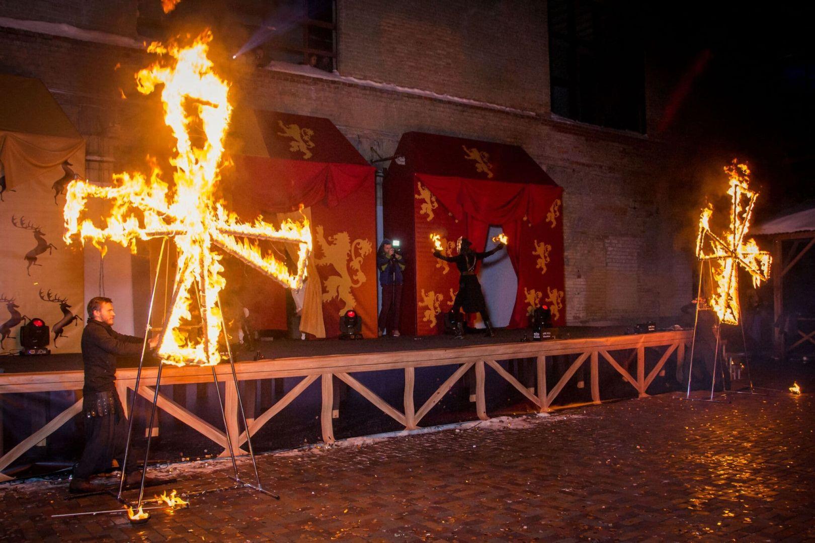 огненные мельницы, огненное шоу