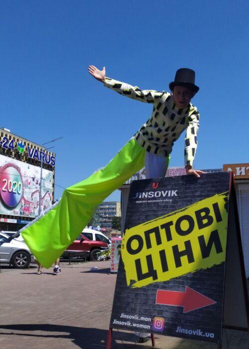 Ходулисты в Киеве